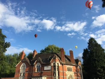 The Talbot Inn - Hot Air Balloons over The Talbot Inn