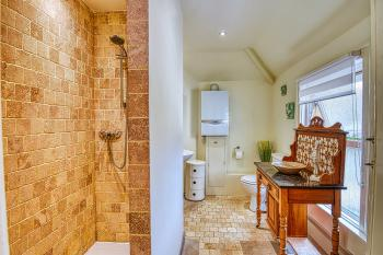 Family Bathroom (upstairs) with walk-in Shower