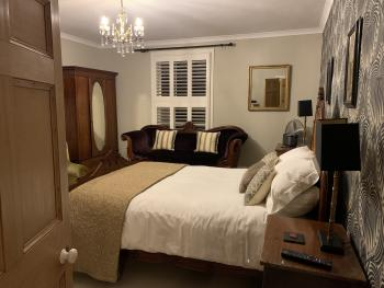 Estuary bedroom from entrance by night