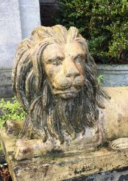 Lion at front entrance