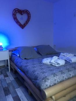 Les bains Lounge lit en bambou 160x 200cm'