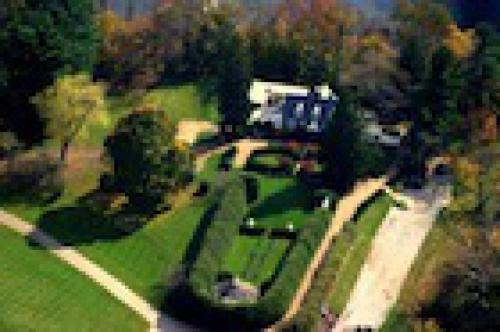 Aerial view of the property.