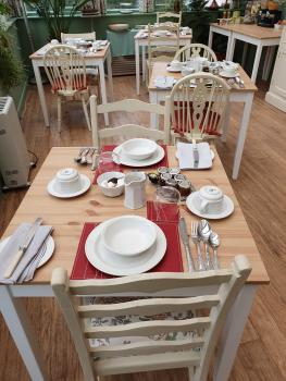 The breakfast room can cater for up to 12 people