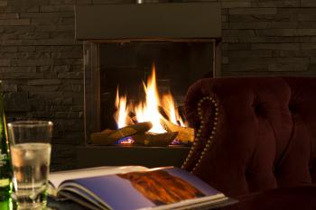 Snugle up in front of our fire with a good book