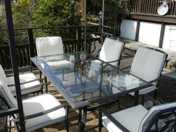Langleigh Guest House - Middle decking area with fantastic views