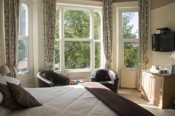 Many rooms have bay windows, just ask when booking