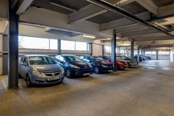 Secure Parking Garage On-Site ~ Large Spaces available for Vans & Minibuses