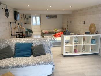 Famille-Appartement-Douche-Vue mer