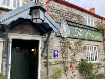 The Lion at Pennard - Our front entrance