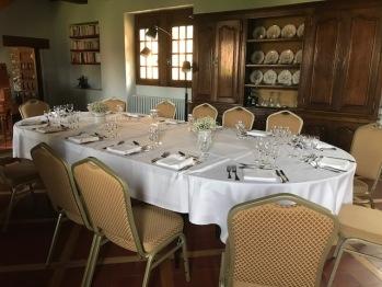 Manoir petite salle à manger capacité 22 personnes