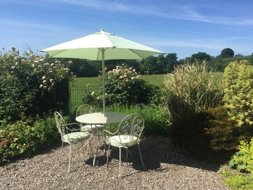 Garden seating in the summer