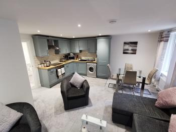 Gosforth Suite - Open Plan Lounge Kitchen and Dining Area