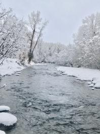 Chama Rio, winter time.  Right along El Meson property!