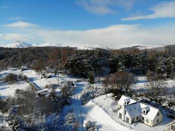 Drovers Lodge - Winter Aerial View