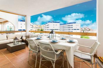 Apartamento Vulfs - Terraza con vistas al mar