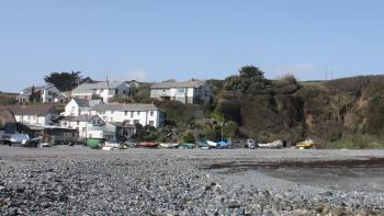 Porthallow beach and village