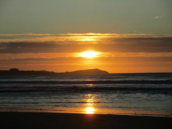 Sunset over Watergate Bay