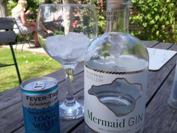 Mermaid Gin is Isle of Wight made, a house speciality