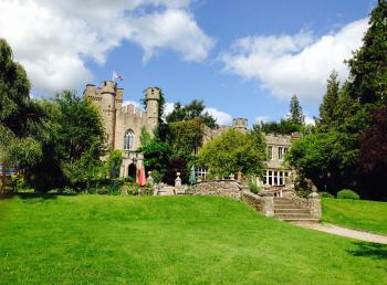 Summer across the lawns at Augill Castle