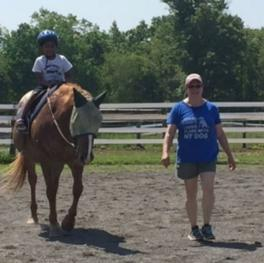 Riding lessons with Ms. Kim