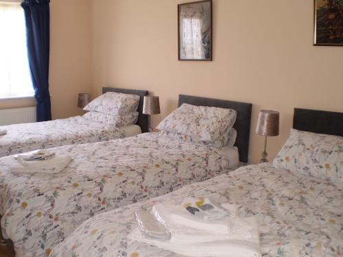 Blue Room with shower-Comfort-Triple room-Ensuite with Bath-Street View - Base Rate