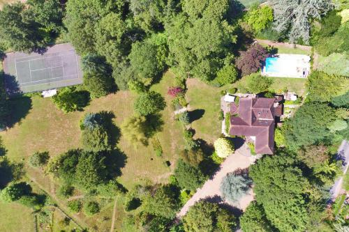 The House, Tiered Gardens, Pool and Tennis Court