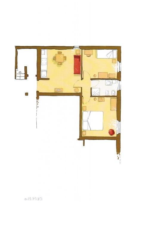 Appartamento-Appartamento-Bagno privato-Vista giardino-Blue/Arancio - Rack Rate