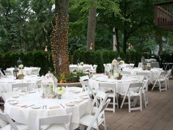 Patio Wedding Dinner