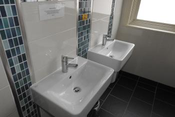 Double sinks ideal for couples and families