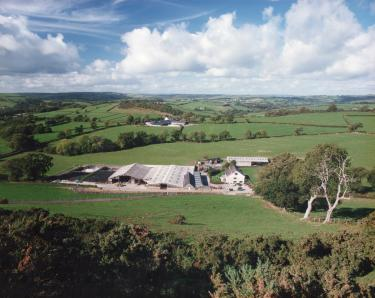 The farm from Merlin's Hill.