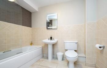 Family Bathroom ~ Bath/Shower, WC, Sink