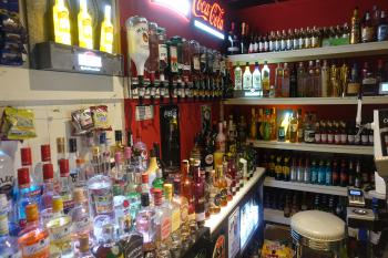 Large selection of drinks on the late bar
