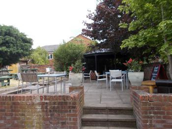 Our beer garden is a secluded sun trap