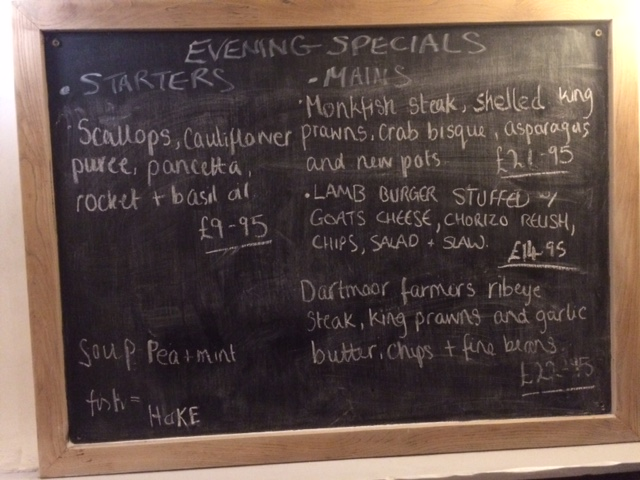 Sample Specials Board