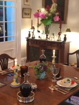 Dinner served at Ingram House