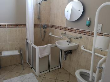 Double disabled ensuite bathroom