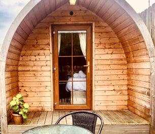 Bungalow-Standard-Ensuite with Shower-Countryside view-Double Glamping Pod  - Base Rate