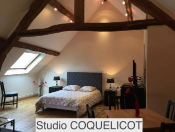 COQUELICOT - Studio -Location-Salle de bain Privée - Tarif de base