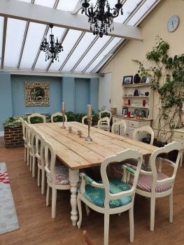 Relax and enjoy the ambience of the large conservatory which leads out onto the rear garden.