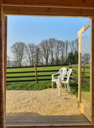 Beautiful views from Glamping Pods