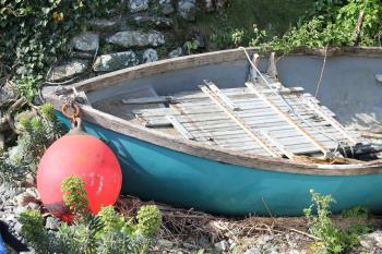 Boat on Porthallow beach