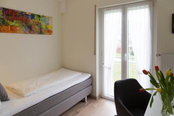 Einzelzimmer-Standard-Ensuite Dusche-Balkon-Flussblick