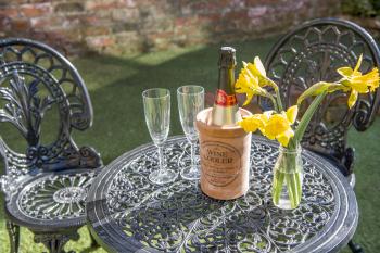Drinks in the garden? Enjoy our walled garden!