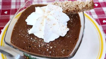 La mousse au chocolat noir de Sandrine