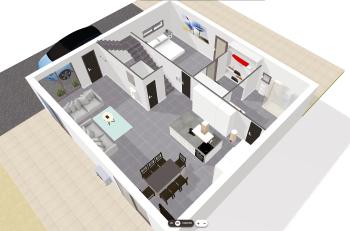 plan 3D du RDC