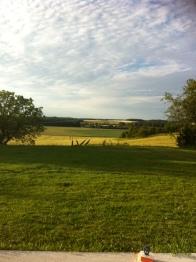 Vue de la maison sur la campagne