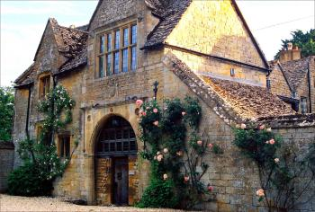 Picturesque Broadway village Cotswold stone building