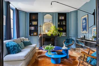 Chez Laurence Du Tilly - salon d'accueil