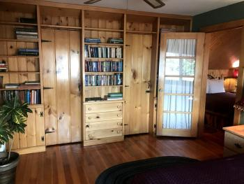 Private Queen Guest Room Library
