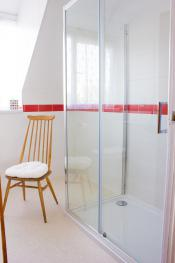 Our double rooms have large showers